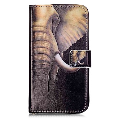 Varten Lomapkko Korttikotelo Tuella Flip Kuvio Magneetti Etui Kokonaan peittävä Etui Elefantti Kova Tekonahka varten HuaweiLG K10 LG K8