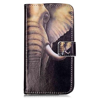 Maska Pentru LG K8 LG LG K10 LG K7 LG G5 Titluar Card Portofel Cu Stand Întoarce Magnetic Model Carcasă Telefon Elefant Greu PU piele