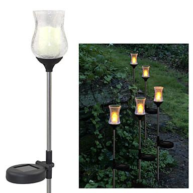 napenergia meleg sárga pattog üveg tulipán kerti dísz tét fények