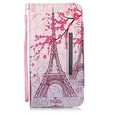 Mert iPhone 6 tok / iPhone 6 Plus tok Kártyatartó / Állvánnyal / Flip Case Teljes védelem Case Eiffel torony Kemény MűbőriPhone 6s Plus/6