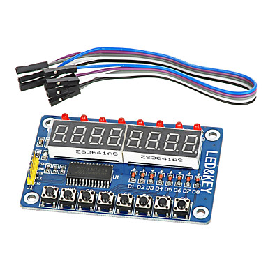 8-bit geleid 8-bit digitale buis 8 toetsen tm1638 display module voor avr Arduino arm