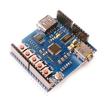 usb-sd mp3 escudo para placa de expansão arduino