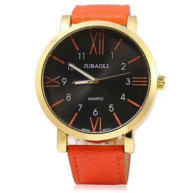 JUBAOLI Bărbați Quartz Ceas de Mână cald Vânzare Piele Bandă Charm Modă Negru Alb Albastru Roșu Orange