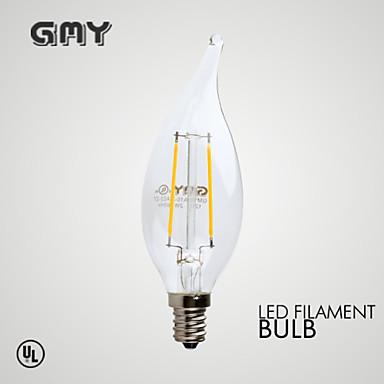 E12 LED-kaarslampen B 2 leds COB Dimbaar Decoratief Warm wit ≥200lm 2700K AC 110-130V