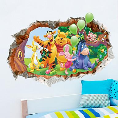Dieren Cartoon 3D Muurstickers 3D Muurstickers Decoratieve Muurstickers Materiaal Verwijderbaar Huisdecoratie Muursticker