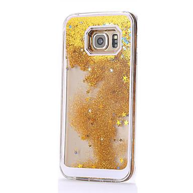 Para Samsung Galaxy S7 Edge Liquido Flutuante Capinha Capa Traseira Capinha Cores Gradiente PC Samsung S7 edge / S7