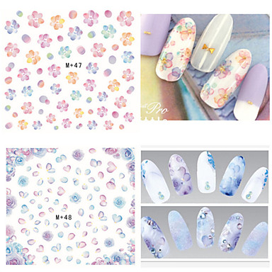1 Water Transfer Sticker Nail Jewelry 3D Nail Stickers Fashion Lovely Daily High Quality