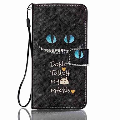 Voor Samsung Galaxy hoesje Kaarthouder / Portemonnee / met standaard / Flip hoesje Volledige behuizing hoesje Woord / tekst PU-leer