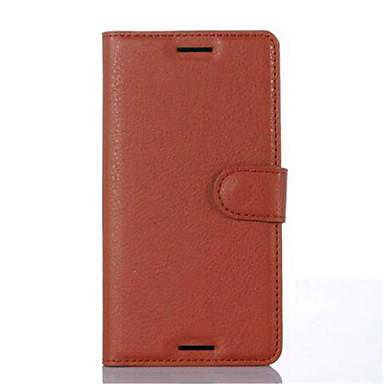 Voor Sony hoesje / Xperia X / Xperia XA Portemonnee / Kaarthouder / met standaard / Flip hoesje Volledige behuizing hoesje Effen kleur