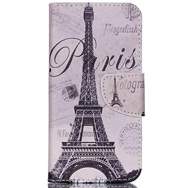 Capinha Para Acer Capinhas Acer Porta-Cartão Com Suporte Flip Estampada Corpo Inteiro Torre Eiffel Rígida Couro Ecológico para