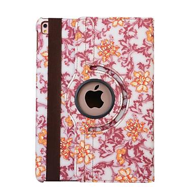 Case Kompatibilitás Apple Állvánnyal / Automatikus készenlét / ébresztés / 360° forgás Héjtok Virág PU bőr mert iPad Air 2