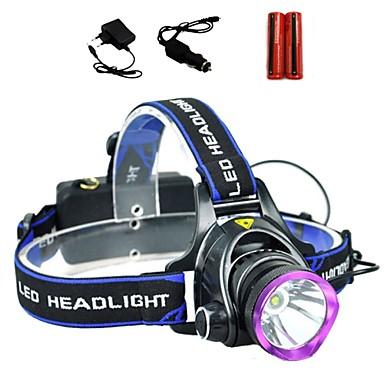 levne Čelovky-LS1792 Čelovky Přední světlo LED Cree® XM-L T6 1 Vysílače 2000 lm 3 Režim osvětlení s bateriemi a nabíječkami Taktický Zoomovatelné Voděodolné Kempování a turistika Každodenní použití Policie a armáda