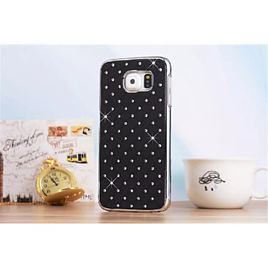 billige Galaxy S4 Mini Etuier / Covere-Etui Til Samsung Galaxy S6 edge / S6 / S5 Mini Rhinstein Bakdeksel Geometrisk mønster PC