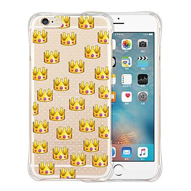 Case Kompatibilitás iPhone 6 iPhone 6 Plus Ütésálló Átlátszó Minta Hátlap Csempe Puha Szilikon mert iPhone 6s Plus iPhone 6 Plus iPhone