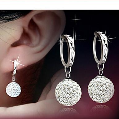 여성용 드랍 귀걸이 신부 우아한 의상 보석 라인석 합금 볼 보석류 제품 일상 캐쥬얼