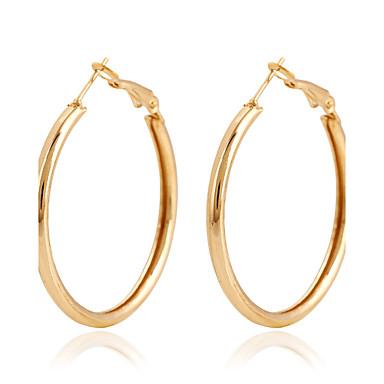 Ring oorbellen Legering Cirkelvorm Gouden Sieraden Voor Bruiloft Feest Dagelijks Causaal 1 paar