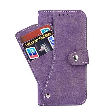 Para Samsung Galaxy S7 Edge Porta-Cartão / Carteira / Com Suporte / Flip Capinha Corpo Inteiro Capinha Cor Única Couro PU SamsungS7 edge