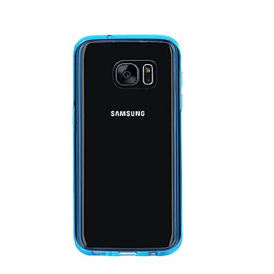 용 Samsung Galaxy S7 Edge 투명 케이스 뒷면 커버 케이스 단색 TPU Samsung S7
