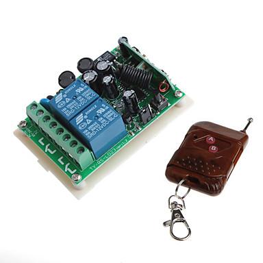 리모트 컨트롤러 (입력 교류 교류 85-260v)와 12V 2 채널 무선 원격 전원 릴레이 모듈