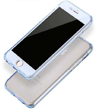 front + hátsó 2 db szuper rugalmas, puha TPU átlátszó 360 fokos, teljes érintőképernyős tok iPhone 6 plusz / 6splus