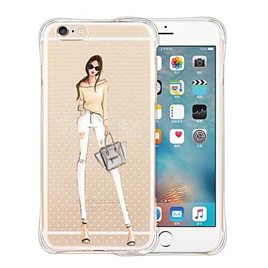 Case Kompatibilitás iPhone 5 tok Átlátszó Hátlap Szexi lány Puha Szilikon mert iPhone SE/5s iPhone 5