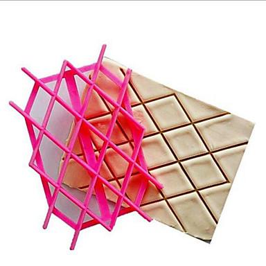 새로운 퐁당 점자 프린터 꽃 쿠키 커터 다이아몬드 모양의 비스킷 금형 케이크 도구 tvoif