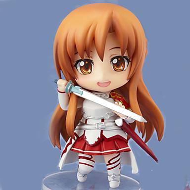 espada de arte online mudança de imagem asuna yuuki 9,5 centímetros pop brinquedo figuras boneca anime de acção modelo