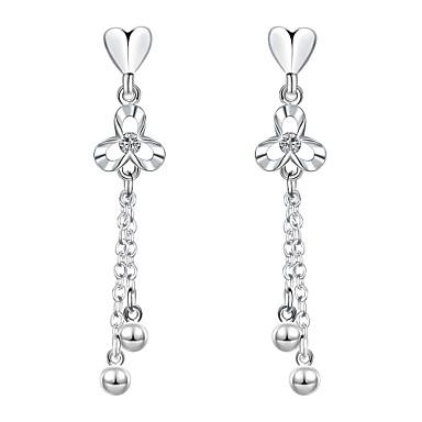 Oorknopjes Clip oorbellen Liefde Modieus Koper Verzilverd Hartvorm Zilver Sieraden Voor Bruiloft Feest Dagelijks Causaal 1 paar