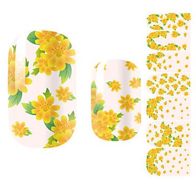 1pcs 3D 네일 스티커 네일 스탬핑 템플릿 일상 꽃 카툰 패션 러블리 고품질