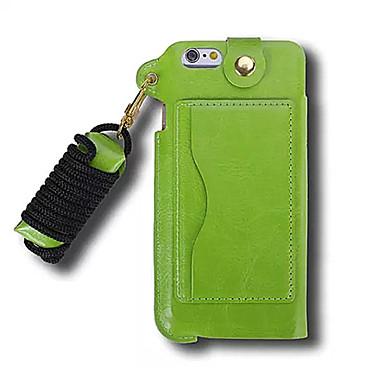 Case Kompatibilitás Apple iPhone 6 iPhone 6 Plus Kártyatartó Állvánnyal Fekete tok Tömör szín Kemény PU bőr mert iPhone 6s Plus iPhone 6s
