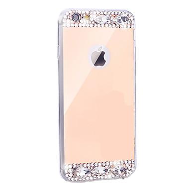 hoesje Voor iPhone 5 hoesje Strass Beplating Spiegel Achterkantje Glitterglans Zacht TPU voor iPhone SE/5s iPhone 5