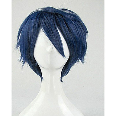 Συνθετικές Περούκες Σγουρά Πυκνότητα Γυναικεία Μπλε Καρναβάλι περούκα Απόκριες Περούκα Κοντό Συνθετικά μαλλιά