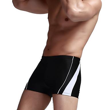 스포츠 남성의 수영복 통기성 / 압축 / 땀 흡수 기능성 소재 수영복 하의 밀어 올리다 스트링 옐로우 / 화이트 / 블랙 / 블루 화이트 / 블랙 / 블루 M / L / XL / XXL / XXXL