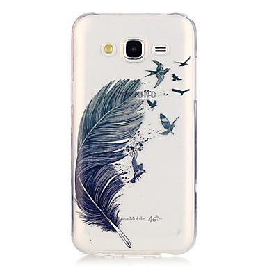 제품 삼성 갤럭시 케이스 케이스 커버 투명 뒷면 커버 케이스 깃털 TPU 용 Samsung Galaxy J5 (2016) J5
