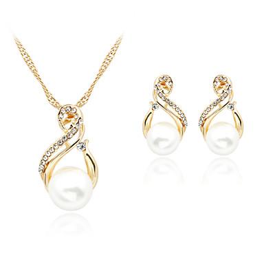 Pentru Femei Perle Set Bijuterii Perle Imitație De Perle ștras