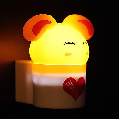 kreatív meleg fehér nyúl fényérzékelő kapcsolatos baba alvás éjszakai fény (vegyes szín)