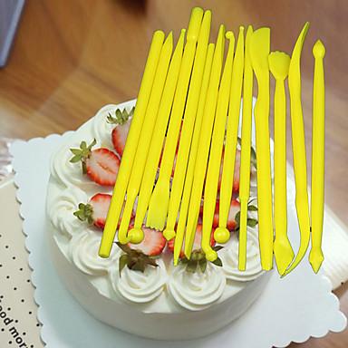 Bakeware eszközök Műanyag Torta / Sandwich Díszítő eszköz 1set