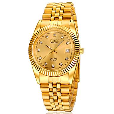 levne Pánské-Pánské Náramkové hodinky Automatické natahování Slitina Kapela Zlatá Značka-