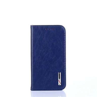 Mert Samsung Galaxy S7 Edge Kártyatartó / Pénztárca / Állvánnyal / Flip Case Teljes védelem Case Egyszínű Valódi bőr Samsung S7 edge / S7