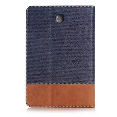 Mert Samsung Galaxy tok Kártyatartó / Pénztárca / Állvánnyal / Flip Case Teljes védelem Case Egyszínű Műbőr Samsung Tab S2 8.0