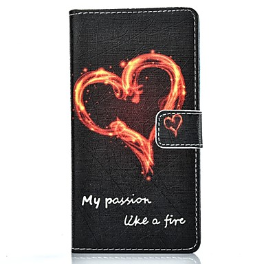 용 화웨이 케이스 / P9 / P9 Lite 카드 홀더 / 지갑 / 스탠드 / 플립 케이스 풀 바디 케이스 심장 하드 인조 가죽 Huawei 화웨이 P9 / 화웨이 P9 라이트