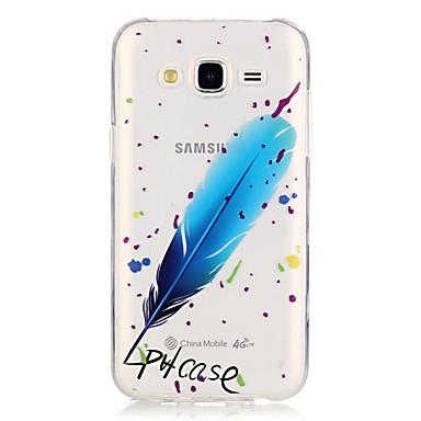 Kompatibilitás Samsung Galaxy tok tokok Átlátszó Hátlap Case Tollak Hőre lágyuló poliuretán mert Samsung Galaxy J5 (2016) J5