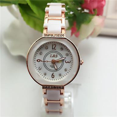 아가씨들 패션 시계 팔찌 시계 석영 합금 밴드 우아한 실버 골드