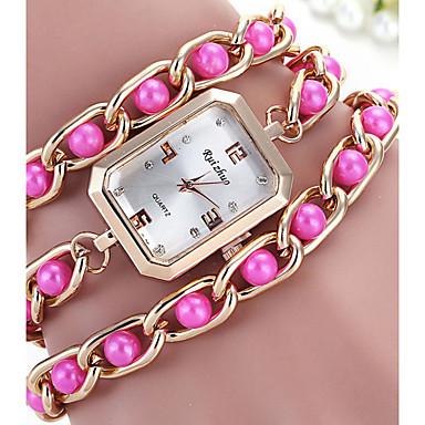 여성용 패션 시계 팔찌 시계 모조 다이아몬드 시계 석영 합금 밴드 블랙 화이트 레드 그린 핑크 노란색