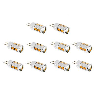 1.5W G4 LED Corn Lights T 10 leds SMD 5730 Warm White Cold White 130-150lm 3500/6000K DC 12V
