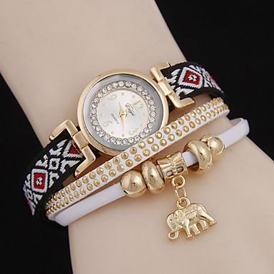 여성용 패션 시계 팔찌 시계 석영 캐쥬얼 시계 합금 밴드 블랙 화이트 블루 브라운 노란색