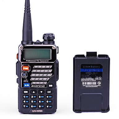 BAOFENG UV-5RB 워키 토키 핸드헬드 디지털 음성 지원 듀얼 밴드 듀얼 밴드 화면 듀얼 스탠바이 CTCSS/CDCSS LCD FM 라디오 1.5KM-3KM 1.5KM-3KM 128 1800mAh 5/1 워키 토키 양방향 라디오