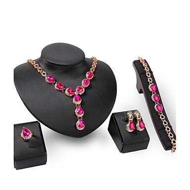 Damskie Zestawy biżuterii Rhinestone Kryształ górski Stop Inne Leaf Shape Spersonalizowane Wyrazista biżuteria euroamerykańskiej Modny