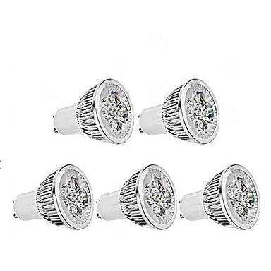 ZDM® 1 개 4 W 350 lm GU10 LED 스팟 조명 4 LED 비즈 고성능 LED 밝기조절가능 따뜻한 화이트 220 V / 5개 / RoHS 규제