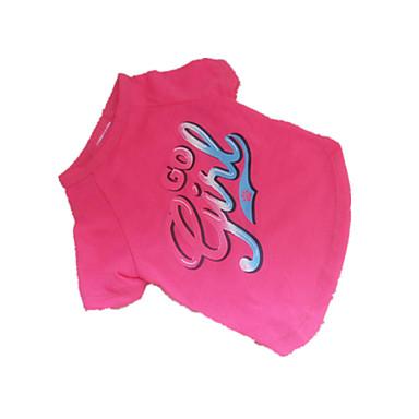 Cachorro Camiseta Roupas para Cães Respirável Fashion Carta e Número Rosa claro Ocasiões Especiais Para animais de estimação